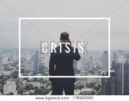 Businessman Investment Risk Crisis Word