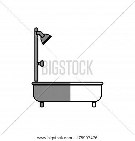 bathtub silhouette isolated icon vector illustration design