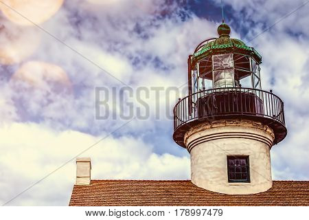 The Old Point Loma Lighthouse in San Diego.