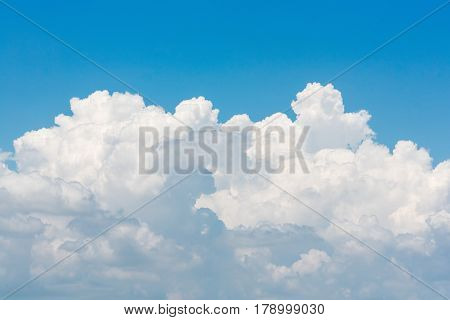 Nature White Cloud On Blue Sky Background In Daytime, Photo Of Nature Cloud For Freedom And Nature C