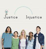 Antonym Opposite Justice Injustice Fairness Unfair poster