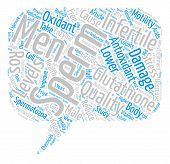 Male Infertility and Glutathione text background word cloud concept poster