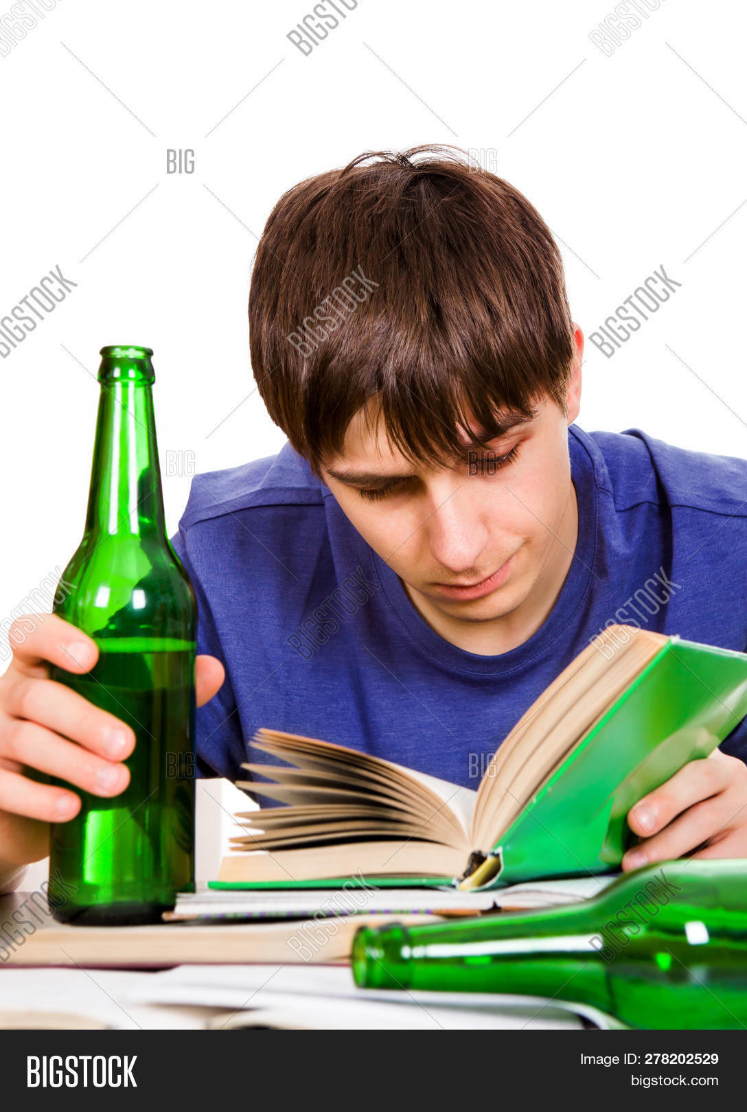 Student Beer Read Book Image Photo Free Trial Bigstock