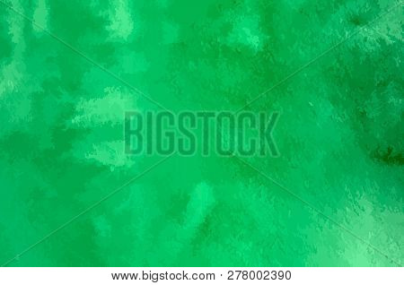 Watercolor Texture Vector Background. Green Gradient Aquarelle Painting. Colorful Watercolor Stains.
