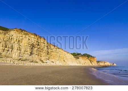 Praia Do Porto De Mos Beach In Lagos, Algarve, Portugal