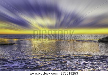 The Beautiful Sunset Coastline Of Perth Western Australia