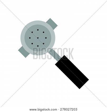 Portafilter Vector, Coffee Related Flat Design Icon