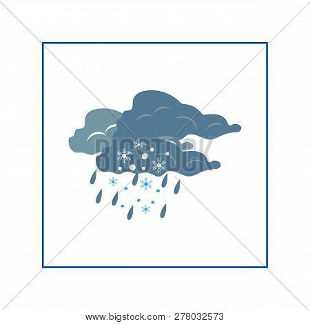 Storm Sign. Weather Winter Icon. Meteorology Symbol Thunderstormy. Isolated Icon Bad Weather. Design