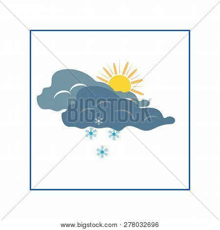Weather Winter Icon. Meteorology Symbol Thunderstormy. Isolated Icon Bad Weather. Design Element. Co