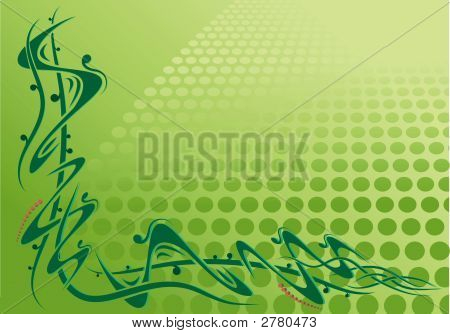 Corner Scroll With Green Background
