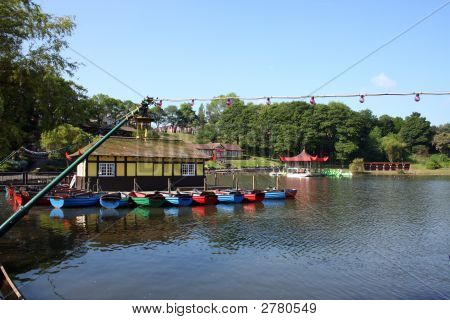 Calm Tranqul Japanese Style Lake