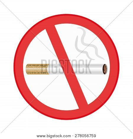 No Smoking Sign On White Background. Hand Drawn Style Vector Design Illustrations