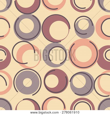 Seamless Geometric Pattern, Retro Style, Textile And Background