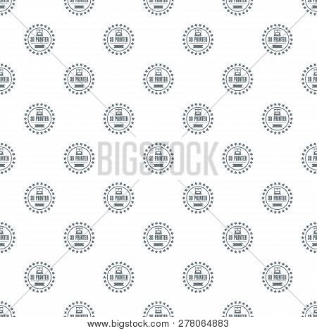 Prototype 3d Printing Pattern Vector Seamless Repeat For Any Web Design