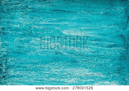 Bright Mid-tone Heterogeneous Turquoise Background With Streaks Of Aquamarine And White, Natural Woo