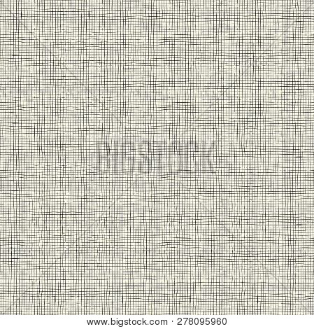 Abstract Seamless Vector Background With Hand Drawn Horizontal And Vertical Stripes. Endless Ornamen