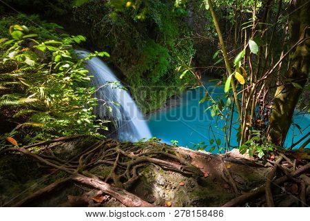 Kawasan Waterfalls Located On Cebu Island, Philippines