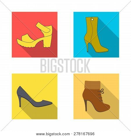 Vector Illustration Of Heel And High Icon. Collection Of Heel And Stiletto Stock Vector Illustration