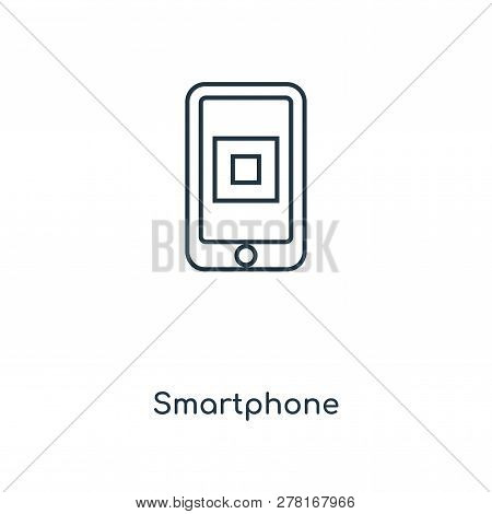 Smartphone Icon In Trendy Design Style. Smartphone Icon Isolated On White Background. Smartphone Vec
