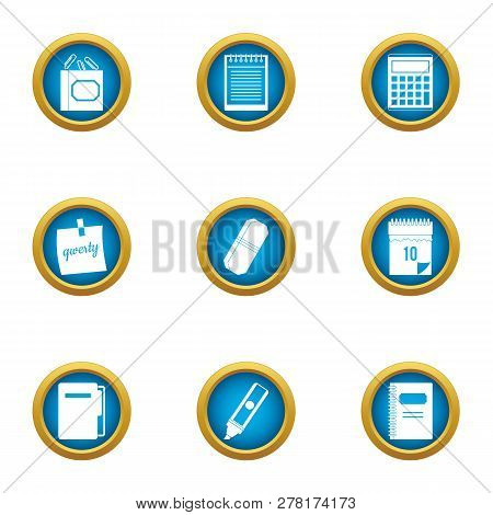 Notation Icons Set. Flat Set Of 9 Notation Icons For Web Isolated On White Background