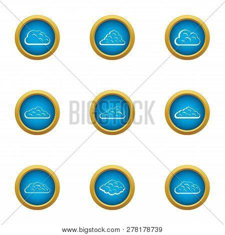 Mist Icons Set. Flat Set Of 9 Mist Icons For Web Isolated On White Background