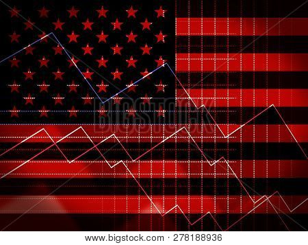 Trump Economics Plan Strategy For Usa Growth - 2D Illustration