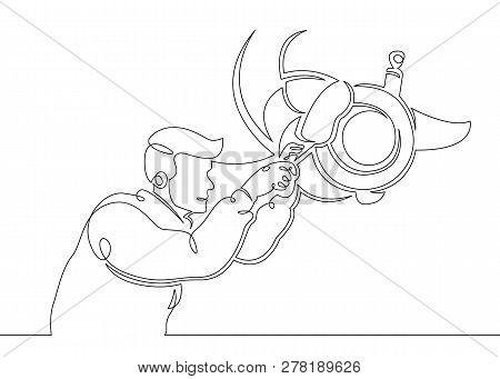 One Continuous Single Drawn Line Art Doodle Mechanic, Car, Garage, Service, Auto, Repair, Vehicle, S