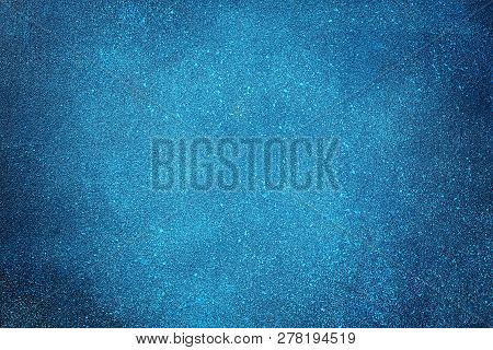 Space Texture On Painted Plywood. The Texture Of The Night Starry Sky. Blue-purple Texture Backgroun