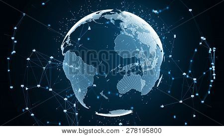Social Global Network Concept.
