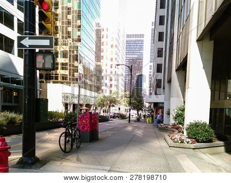 Vancouver, Canada - 2018.travel Photo Of The Vancouver City, One Of The Major Cities Of Canada.