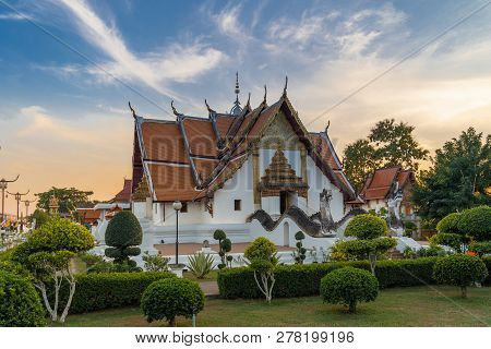 Wat Phumin Is A Famous Temple In Nan Province, Thailand.