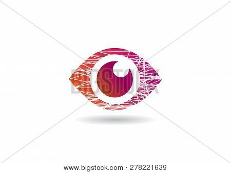 Eye Icon With Shadow Eye Symbol Vector
