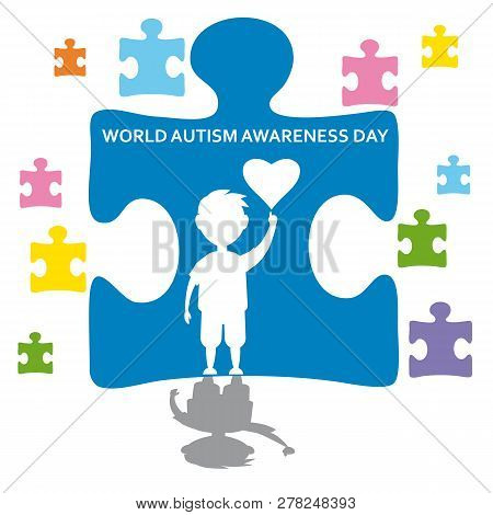 Creative Concept Vector Illustration For World Autism Awareness Day. Can Be Used For Banners, Backgr