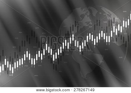 Candle Stick Graph Chart In Financial Market , Forex Trading Graphic Concept.stock Exchange Market,