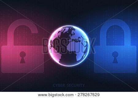 Future Cyber Technology Web Services For Business And Internet Project. Cyber Security And Informati