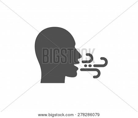 Breathing Icon. Breath Difficulties Sign. Respiration Problems Symbol. Quality Design Element. Class