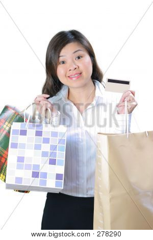 Happy Shopping Woman
