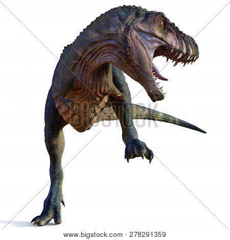 Tyrannosaurus Male Dinosaur 3d Illustration - Tyrannosaurus Was A Carnivorous Theropod Dinosaur That