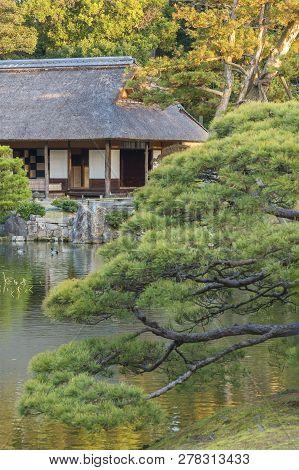 Idyllic Garden In Katsura, Arashiyama, Kyoto, Japan