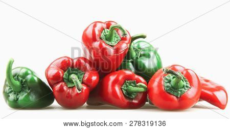 Red Pepper Isolated On White Background Stock Photos
