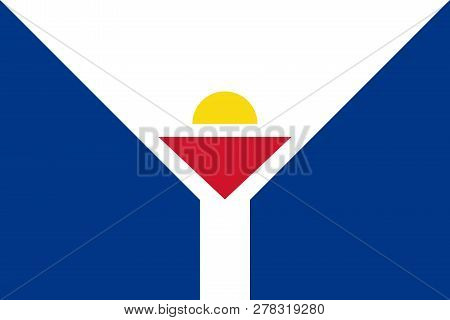 Flag Of Saint Martin Unofficial Rate And Colors, Vector