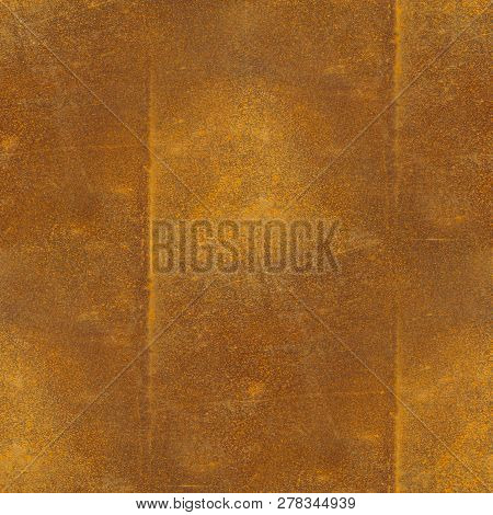 Seamless tileable texture of old weathered rusty metal sheet with weld seams. poster
