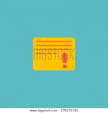 Important Task Icon Flat Element. Vector Illustration Of Important Task Icon Flat Isolated On Clean