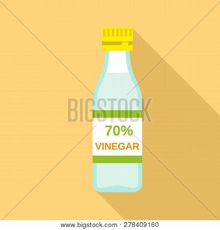 70 Percent Vinegar Icon. Flat Illustration Of 70 Percent Vinegar Vector Icon For Web Design