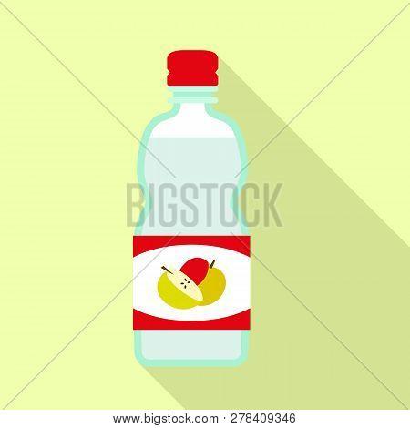 Apple Vinegar Mix Icon. Flat Illustration Of Apple Vinegar Mix Vector Icon For Web Design