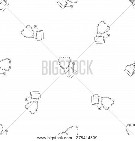 Stethoscope, Bandage Icon. Outline Illustration Of Stethoscope, Bandage Vector Icon For Web Design I