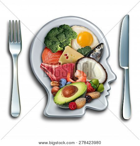 Keto Ketogenic Diet Low Carb And High Fat Food Eating Lifestyle As Fish Nuts Eggs Meat Avocado And O