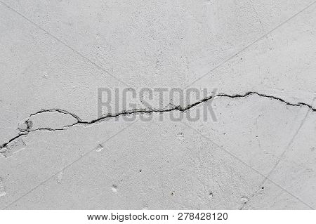 Old Concrete Wall With Crack Texture Background Cracked Concrete Wall Covered With Grey Cement