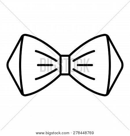 Elegant Bow Tie Icon. Outline Elegant Bow Tie Vector Icon For Web Design Isolated On White Backgroun