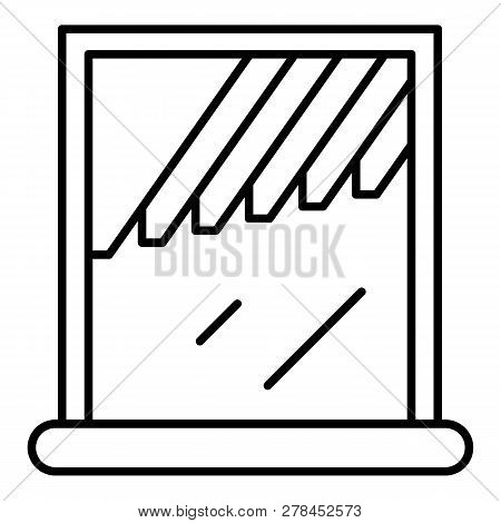 Window Shade Icon. Outline Window Shade Vector Icon For Web Design Isolated On White Background